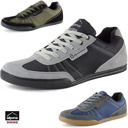 Alpine Swiss Marco Men's Retro Tennis Shoes Suede Trim Fashion Sneakers by Alpine Swiss