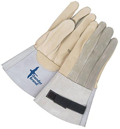 Bob Dale Gloves 631949VT11 Premium Grain Palm Split Back Utility Glove W//Velcro Strap,