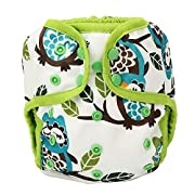 One Size Cloth Diaper Cover Snap With Double Gusset (Owl&tree)