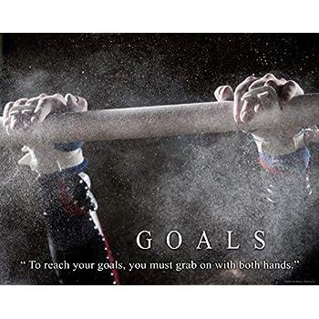 Gymnastics Motivational Poster Art Print Balance Beam Bars Mat Leotard  MVP458