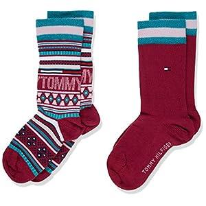 Tommy Hilfiger Girl's Calf Socks, (Pack of 2)