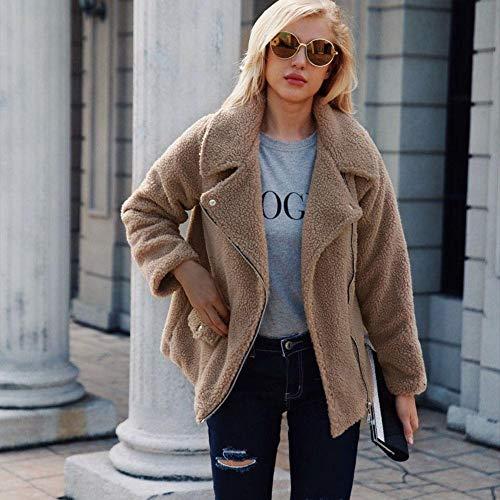 Douche Marron Fausse Hiver manteau Chaud Prokth Manteau Fourrure Femme Fluffy Outwear Blouson Veste Automne Femme Jacket Élégant qaUOp