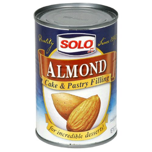 Solo Filling, Almond, 12.5-Ounce Unit (Pack of 12) by SOLO