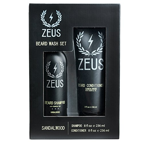 ZEUS Beard Shampoo and Conditioner Set for Men
