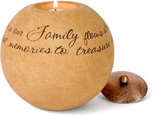 Pavilion Gift Company Comfort Candles 5-Inch Round Candle Holder, Family -