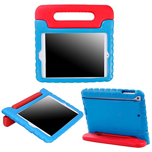 HDE Kids Case for iPad Mini 2 3 -Shock Proof Rugged Heavy Duty Impact Resistant Protective Cover Handle Stand for Apple iPad Mini 1 2 3 Retina (Blue & Red)