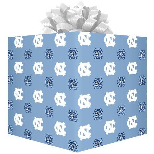 (Football Fanatics North Carolina Tar Heels (UNC) Carolina Blue Logo Gift Wrap Paper)