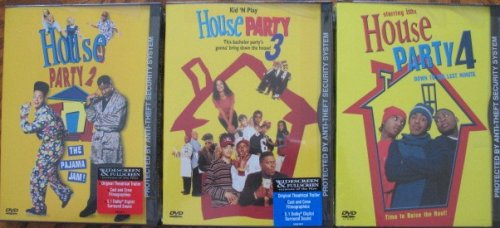 Lot 3 House Party DVD Set HP#2 the Pajama Jam, HP#3 This Bachelor Party's Gonna' Bring Down the House, HP#4 Down to the Last Minute (House Party 4 Down To The Last Minute)