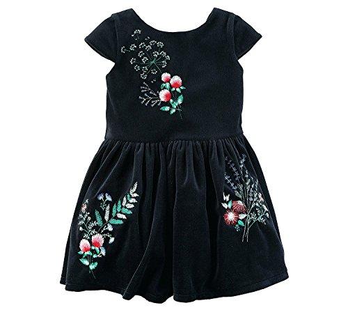 Floral 2T Dress Velvet Carter's 8 Black Girls' 6HwqxnFnA
