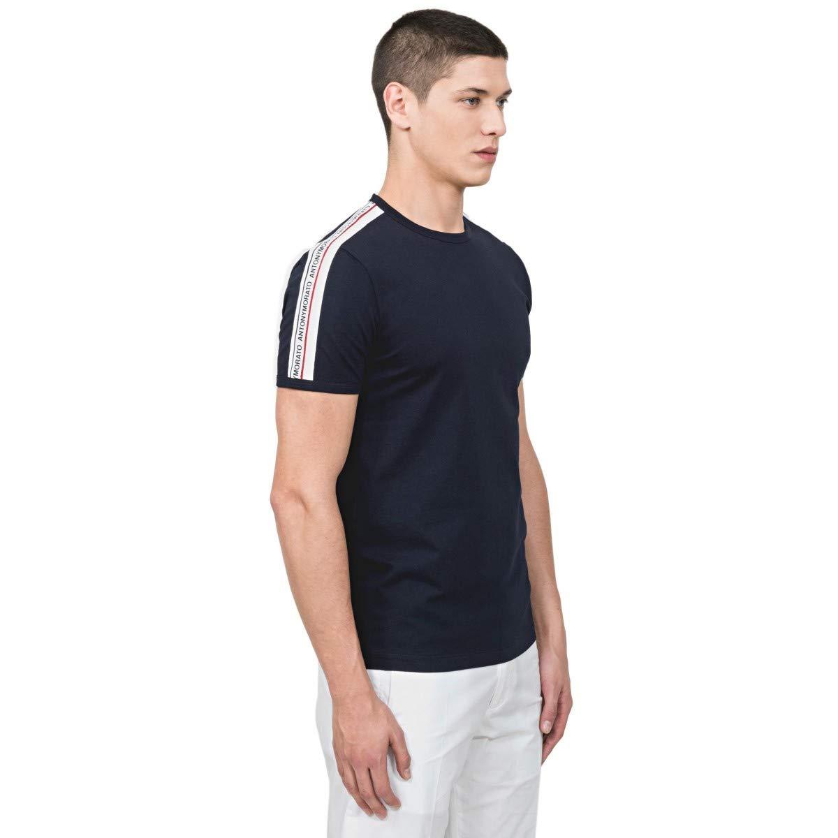 Antony Morato Camiseta Azul Marino con Cinta y Logo: Amazon.es ...