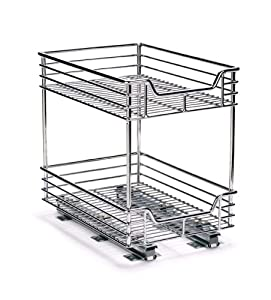 two tier kitchen drawer organizer household essentials c21275 two tier sliding 8609