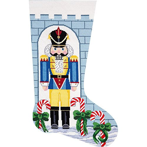 Alice Peterson Home Creations Holiday Edition Needlepoint Stocking Kit-- Nutcracker Soldier- Large, Deluxe Size