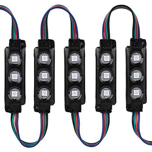 Lavolta 3CL50B 50-Piece RGB 5050 SMD 3 LED Module IP67 Waterproof 23 ft. Light Strip - Black by Lavolta (Image #2)