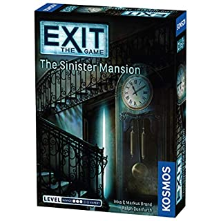 Exit: The Sinister Mansion | Exit: The Game - A Kosmos Game | Family-Friendly, Card-Based at-Home Escape Room Experience for 1 to 4 Players, Ages 12+