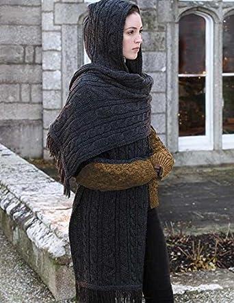 d8f6e142fcb Victorian Trading Co Charcoal Gray Merino Wool Hand Knit Ireland ...