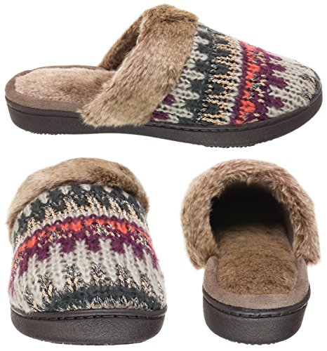 Oatmeal Knit Fairisle Lurex Clog Heather Womens Cable Knit ISOTONER Fairisle Erin SaH8wH