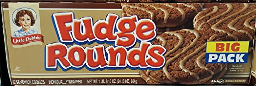 Little Debbie Big Packs 2 Boxes of Snack Cakes & Pastries (Fudge Rounds)