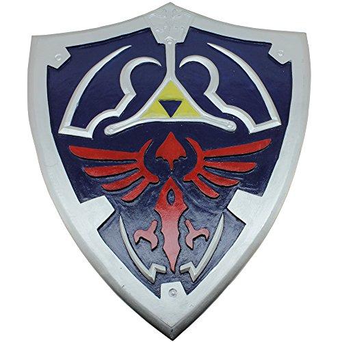[Elf Warrior Medieval Knight Wooden Shield Blue Replica Wild Cosplay] (Wild Man Costumes)
