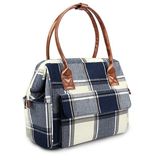 Zooawa Diaper Bag, Large Capacity Baby Nappy Tote Multi Pockets Travel Handbag