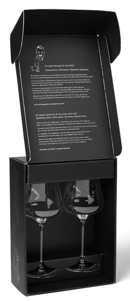 Gabriel-Glas -Austrian Crystal Wine Glass - ''StandArt'' Edition - Set of 2