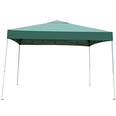 Sundale Outdoor UV-Protected Iron Outdoor Folding Canopy Instant Shelter Foldable Tent Patio, Green : Garden & Outdoor