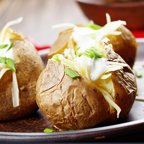 Kansas City Steaks 8 ( 5oz.) Twice Baked Potatoes with Sour Cream & Chive (Steak Baked Potato)