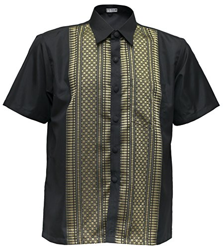 Kurzarm Hemd Herrenhemd Freizeithemd schwarz (L)