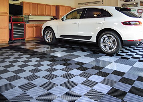 RaceDeck Free-Flow Open Rib Design, Durable Interlocking Modular Garage Flooring Tile (48 Pack), Graphite by RaceDeck (Image #2)