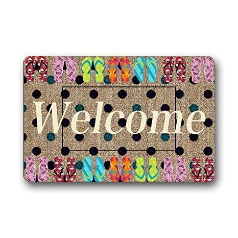 Daisy Custom Outdoor Indoor Doormat Personalized Design Machine-Wahable Neoprene Rubber Doormat 24