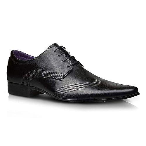 Moda Hombre Nuevo Zapatos Negros De Piel Formal Elegante Vestido talla UK 6 7 8 9 10 11: Amazon.es: Zapatos y complementos