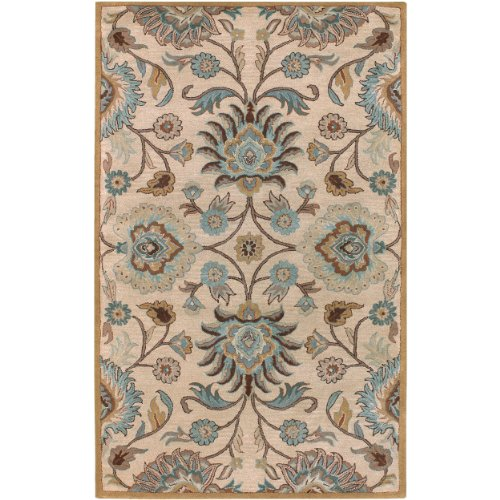 Surya Caesar CAE-1012 Classic Hand Tufted 100% Wool Doe Skin 2' x 4' Hearth Traditional Accent Rug (Tufted Hearth Hand)