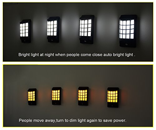 Brass Outdoor Post Light (Solar Porch Light,AIJING Outdoor Garden Fence Lights Post Lamp Wireless Waterproof Motion Sensor LED Wall Lighting for Christmas Garden Patio Yard (2-pack))