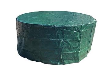 Laxllent Housse de Protection pour Table Bâche,Couverture de Meubles de  Jardin en PE Anti-poussière Imperméable,Ronde,Vert