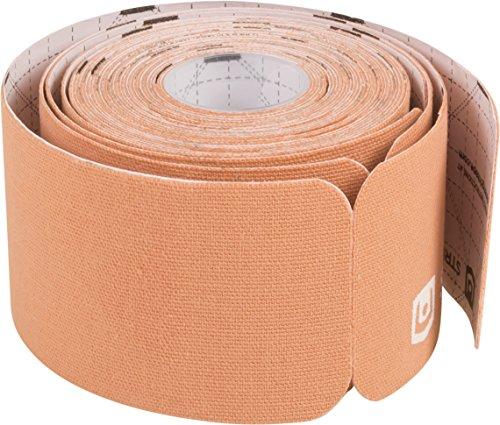 StrengthTape Kinesiology Tape - 16.4' (5m) Roll of 10' Precut Strips - Beige