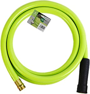 Worth Garden 5/8 in. x 10ft Garden Hose - Durable PVC Non Kinking Heavy Duty Water Hose with Brass Hose Fittings