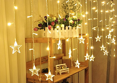 V-Dank イルミネーション LEDライト クリスマス飾り カーテン ライト 防水 点滅 96球 3.5M x 0.65M