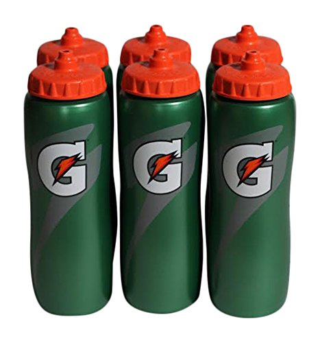 Gatorade 32 Oz Squeeze Water Sports Bottle - Value Pack of 6 - New Easy Grip Design for 2014