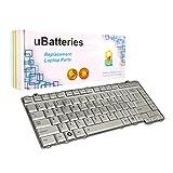 UBatteries Laptop Keyboard Toshiba Satellite A200-AH3 (Silver)