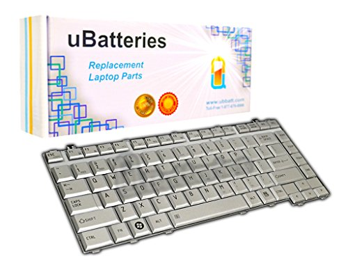 UBatteries Compatible Keyboard Replacement For Toshiba Satellite A200 A205 A210 A215 A300 A305 A305D L205 L300 L300D L305 L305D L510 L510 L515 M200 M205 M300 M305 M305D 6037B0026802 LKB-TO01S - Silver
