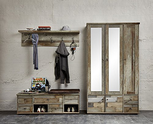 Garderobe Treibholz garderobe set garderobenschrank flurgarderobe garderobenmöbel