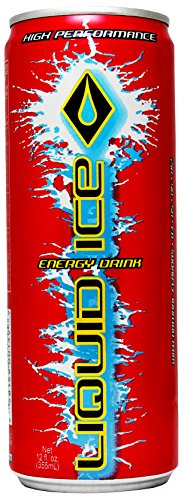 Liquid Ice Red Energy Drink, 12 Ounce, 24 Count