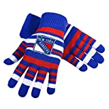 NHL Hockey Team Logo Stretch Gloves - Pick Team (New York Rangers)