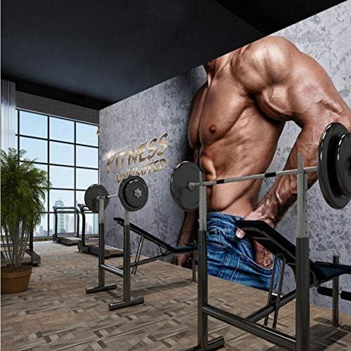 Lcymt カスタム写真壁紙カスタム3Dステレオパーソナリティハンサムジムフィットネス壁紙マンショップモール壁画-150X120Cm