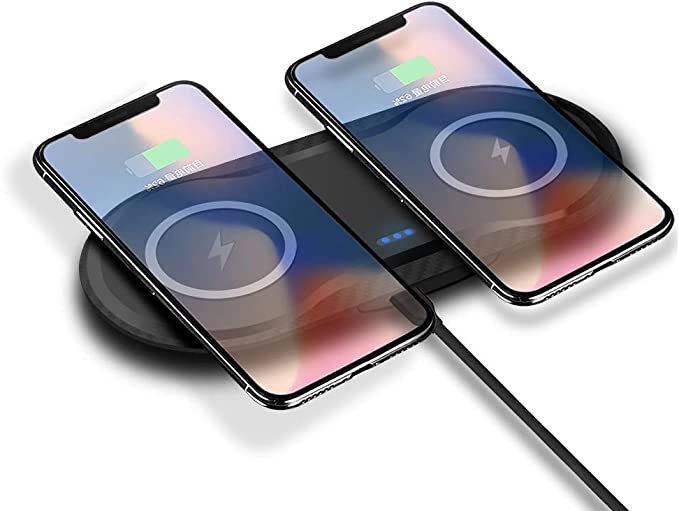 Double Qi Wireless Charger Pad for