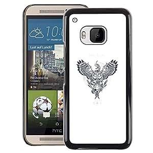 For HTC One M9 Case , Dreamcatcher Animals - Diseño Patrón Teléfono Caso Cubierta Case Bumper Duro Protección Case Cover Funda