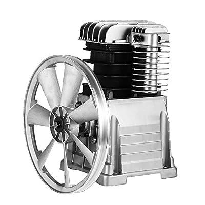 Mophorn Air Compressor Pump 3KW Piston Type Air Compressor Head Pump Stroke Volume 476L/Min 159.5PSI Cylinder Pump Head with Aluminum Construction
