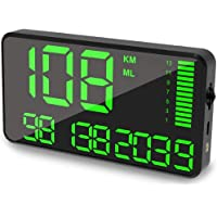 Maizad GPS Speedometer Odometer HUD Digital Display 5.5 inch MPH/KMH with Over Speeding Alarm for All Vehicle Auto Truck…