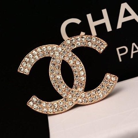 Korean Style Fashion Brooch/Pin Clothes Accessory with Crystal Paved and Fashionable Design (gold)
