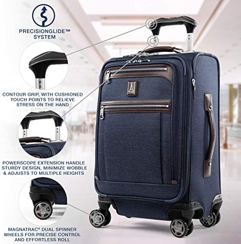 Travelpro Platinum Elite-Business Plus Softside Expandable Luggage, True Navy, Carry-On 20-Inch
