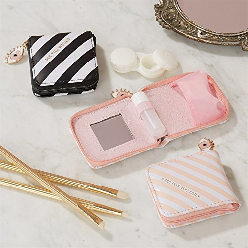 Two's Company See The World Contact Lenses Kit in Zippered Case with Eye Charm (Pink - For Your Eyes - Lenses Only Online